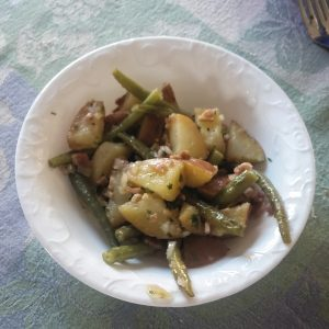 Sweet & Sour Green Beans and Potato salad